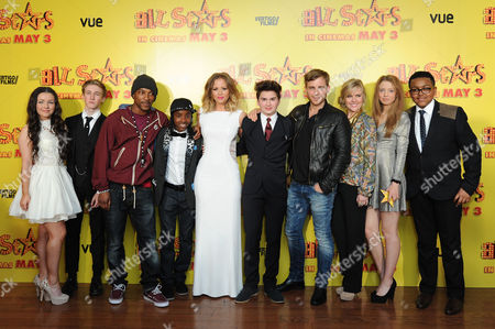 All Stars Film Premiere at the Vue Leicester Square Fleur Houdijk Dominic Herman Day Ashley Walters Akai Kimberley Walsh Theo Stevenson Kevin Bishop Ashley Jensen Amelia Clarkson and Gamal Toseafa