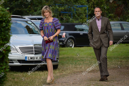 Annabel Goldsmith Hosts Her Annual Summer Party at Her Home in Richmond Nicola Formby with Her Partner Aa Gill