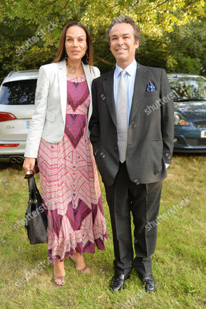 Annabel Goldsmith Hosts Her Annual Summer Party at Her Home in Richmond Henry Dent-brocklehurst with His Wife Lili Maltese