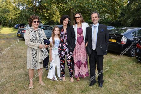 Annabel Goldsmith Hosts Her Annual Summer Party at Her Home in Richmond Lady Ashcombe with Her Daughter Mollie Dent-brocklehurst and Henry Dent-brocklehurst with His Wife Lili Maltese