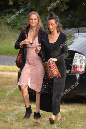Annabel Goldsmith Hosts Her Annual Summer Party at Her Home in Richmond Marchioness of Worcester Tracy Ward and Her Daughter Lady Isabella Somerset
