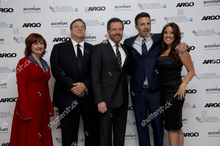 'Argo' Premiere at the Odeon Leicester Square During the 56th Bfi London Film Festival Clare Stewart John Goodman Bryan Cranston and Ben Affleck and Producer Chay Carter