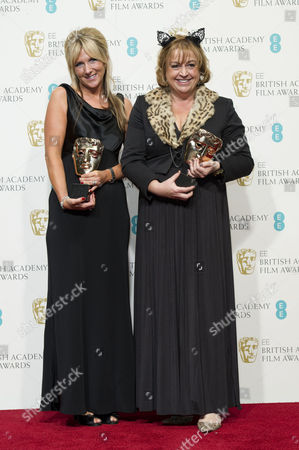Ee British Academy Film Awards Press Room at the Royal Opera House Winners of Best Production Design For 'Les Miserables' - Anna Lynch and Eve Stewart
