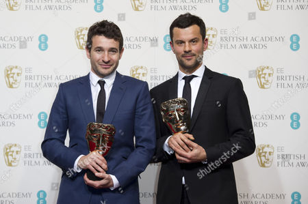 Ee British Academy Film Awards Press Room at the Royal Opera House Bart Layton and Dimitri Doganis Collect the Award For Outstanding Debut For 'The Imposter'