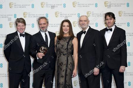 Ee British Academy Film Awards Press Room at the Royal Opera House Best British Film 'Skyfall' - Robert Wade Sam Mendes Barbara Broccoli Michael G Wilson and Neal Purvis