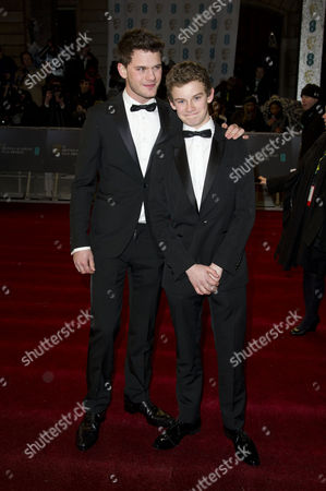 Ee British Academy Film Awards Vip Arrivals at the Royal Opera House Jeremy and Toby Irvine