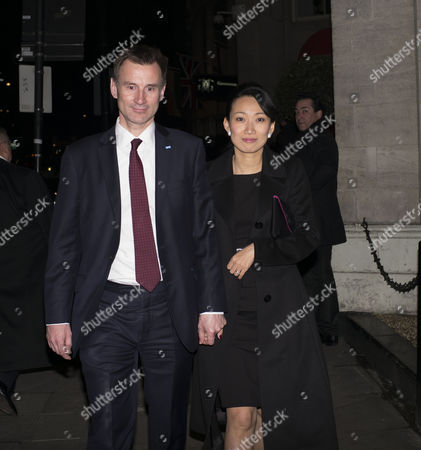 the Conservative Party Black and White Election Fund Raiser Ball at the Ballroom the Grosvenor House Hotel Park Lane London Jeremy Hunt Mp and His Wife Lucia Hunt