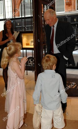 Book Launch Party For Simon Sebag Montefiore's Book 'Young Stalin' at Asprey New Bond Street Charles Palmer Tomkinson with His Grand Children