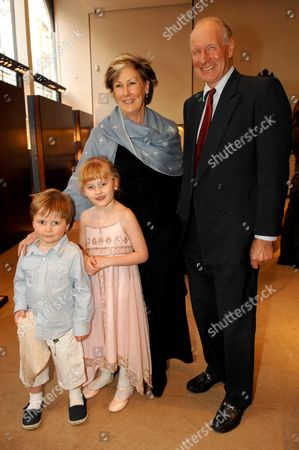 Book Launch Party For Simon Sebag Montefiore's Book 'Young Stalin' at Asprey New Bond Street Patti and Charles Palmer Tomkinson with Their Grand Children