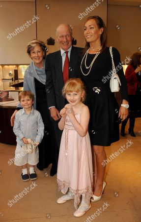 Book Launch Party For Simon Sebag Montefiore's Book 'Young Stalin' at Asprey New Bond Street Charles and Patti Palmer Tomkinson with Their Daughter Tara and Grand-children