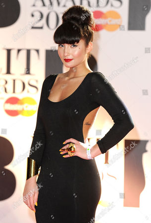 Stock Picture of Brit Awards 2011 Arrivals at the 02 Arena Greenwich Yasmin