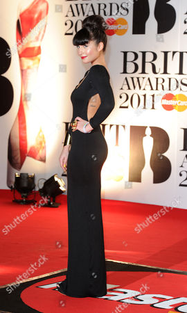 Stock Image of Brit Awards 2011 Arrivals at the 02 Arena Greenwich Yasmin