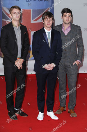 Brit Awards Arrivals at the 02 Foster the People - Mark Pontius Mark Foster and Cubbie Fink
