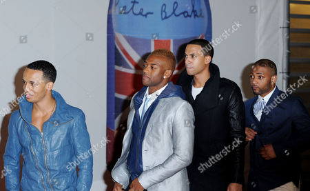 Brit Awards Arrivals at the 02 Jls (l-r) Aston Merrygold Ortise Williams Marvin Humes and Jonathan 'Jb' Gill