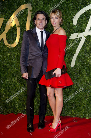 British Fashion Awards Arrivals at the Coliseum Stephen Webster with His Wife Anastasia