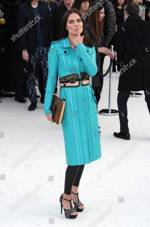 Burberry Autumn Winter Fashion Show Arrivals at the Albert Memorial Kensington Gardens During London Fashion Week Ebru Salli