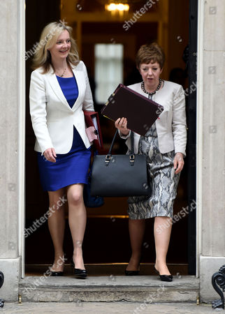 02 06 2015 Cabinet Meeting at Number 10 Downing Street Liz Truss & Leader of the House of Lords Baroness Stowell of Beeston