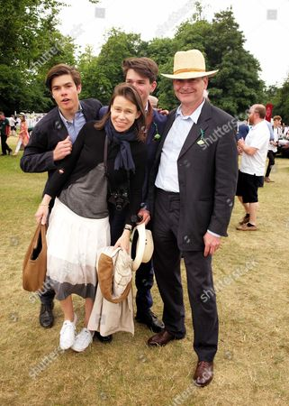 Cartier 'Style Et Luxe' at the Festival of Speed Goodwood House Lady Sarah Chatto with Her Husband Daniel Chatto and Their Sons Arthur Chatto and Samuel Chatto