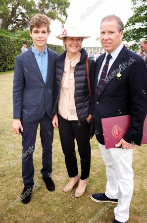 Cartier 'Style Et Luxe' at the Festival of Speed Goodwood House Viscount David Linley with His Wife Serena Armstrong-jones Viscountess Linley with Their Son Charles Armstrong-jones