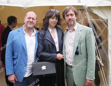 Cartier 'Style Et Luxe' at the Festival of Speed Goodwood House Sir Jonathan Ive with Marc Newson and His Wife Charlotte Stockdale