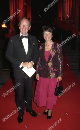 Cartier Host A Dinner at the British Museum to Celebrate the Opening of the Exhibition 'Cartier 1900-1939' Celebrating the 150th Anniversary of Maison Cartier Michael Buerk and His Wife Christine Lilley