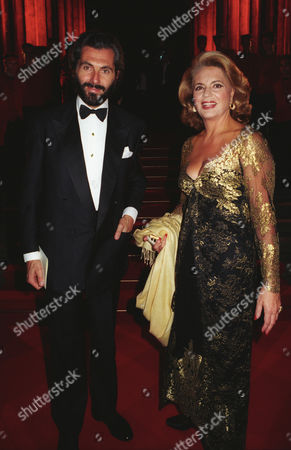 Cartier Host A Dinner at the British Museum to Celebrate the Opening of the Exhibition 'Cartier 1900-1939' Celebrating the 150th Anniversary of Maison Cartier Ira Von Furstenberg with Her Partner Cesare Canavesio