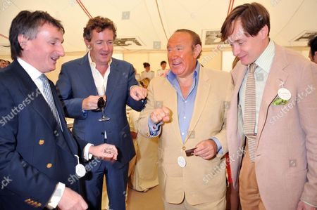 Stock Picture of Cartier International Polo 2009 at Smiths Lawn Windsor Andrew Davis Chairman of Von Essen Hotels with Piers Morgan and Andrew Neil and Nick Foulkes