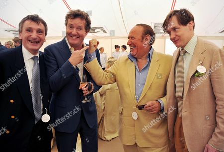 Cartier International Polo 2009 at Smiths Lawn Windsor Andrew Davis Chairman of Von Essen Hotels with Piers Morgan and Andrew Neil and Nick Foulkes