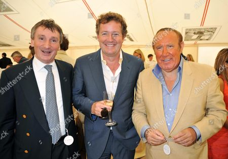 Stock Image of Cartier International Polo 2009 at Smiths Lawn Windsor Andrew Davis Chairman of Von Essen Hotels with Piers Morgan and Andrew Neil