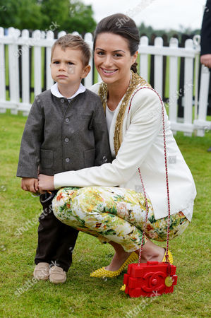 Cartier Queens Cup at Smiths Lawn Windsor Saskia Boxford with Her Son River Winbergh