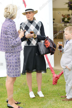 Cartier Queens Cup at Smiths Lawn Windsor Carla Bamberger Sharon Stone with Her Son Roan Joseph Bronstein