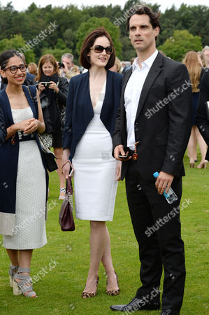 Cartier Queens Cup Final at Smiths Lawn Windsor Great Park Berkshire Michelle Dockery and Boyfriend Financial Pr John Dineen
