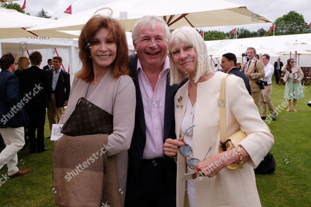 Cartier Queens Cup Final at Smiths Lawn Windsor Great Park Berkshire Stefanie Powers Christopher Biggins and Greta Morrison