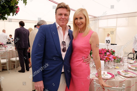 Cartier Queens Cup Final at Smiths Lawn Windsor Great Park Berkshire Rod Barker with His Partner Tania Bryer