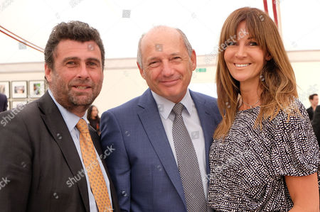 Cartier Queens Cup Final at Smiths Lawn Windsor Great Park Berkshire Trevor Pickett and Ron Dennis with His Partner Carol Weatherall