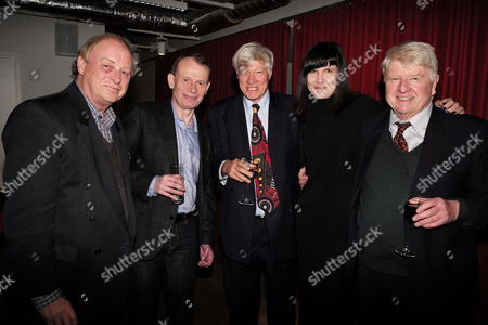 Stock Image of Catherine Mayer ' Charles Heart of A King' Book Launch Party at Foyles Book Shop Charing Cross Road London Anthony Holden Andrew Marr Geoffrey Robinson Qc Catherine Mayer & Stanley Johnson