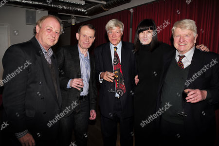 Stock Photo of Catherine Mayer ' Charles Heart of A King' Book Launch Party at Foyles Book Shop Charing Cross Road London Anthony Holden Andrew Marr Geoffrey Robinson Qc Catherine Mayer & Stanley Johnson