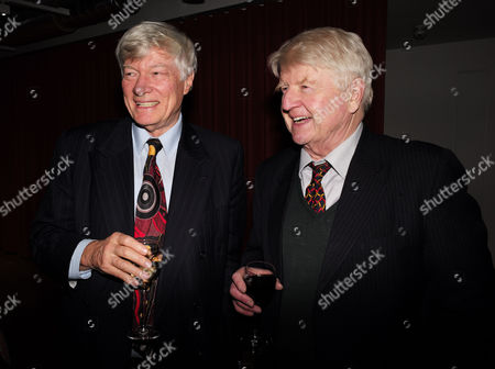 Catherine Mayer ' Charles Heart of A King' Book Launch Party at Foyles Book Shop Charing Cross Road London Geoffrey Robinson Qc & Stanley Johnson