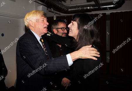 Catherine Mayer ' Charles Heart of A King' Book Launch Party at Foyles Book Shop Charing Cross Road London Geoffrey Robertson Qc David Baddiel & Catherine Mayer &