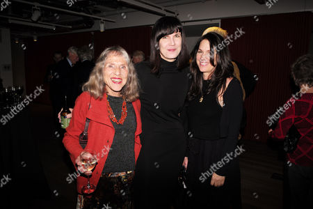 Stock Image of Catherine Mayer ' Charles Heart of A King' Book Launch Party at Foyles Book Shop Charing Cross Road London Helen Mayer and Her Daughters Catherine Mayer & Lise Mayer