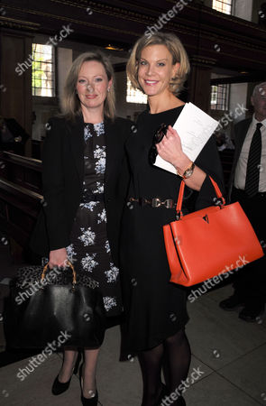 Stock Picture of Service of Celebration For the Life of Jeremy Lloyd Obe at St James Church Piccadilly Ffion Hague and Amanda Staveley