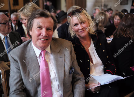 Service of Celebration For the Life of Jeremy Lloyd Obe at St James Church Piccadilly Theo and Louise Fennell