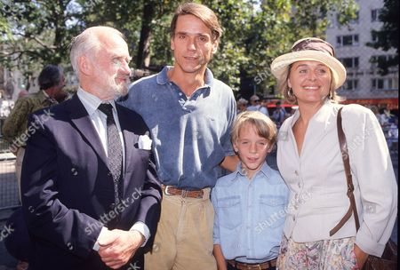 Charity Premiere of 'Danny the Champion of the World' with Afterparty at Stringfellow's Nightclub Jeremy Irons with His Wife Sinead Cusack and Their Son Samuel Irons and Sinead's Father Cyril Cusack