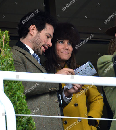 Stock Photo of Cheltenham Festival Thursday Marcus Waley-cohen with Pippa Middleton