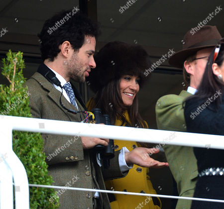 Stock Image of Cheltenham Festival Thursday Marcus Waley-cohen with Pippa Middleton