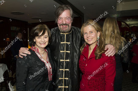 Chinese New Year Party at China Tang Dorchester Hotel Cherie Blair Stephen Fry and Lady Aliai Forte