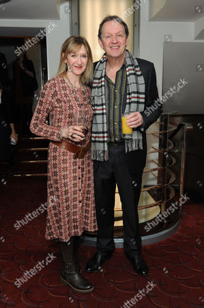 Stock Picture of Critics Circle Theatre Awards 2015 at the Prince Charles Theatre Julie Legrand and Kevin Whately