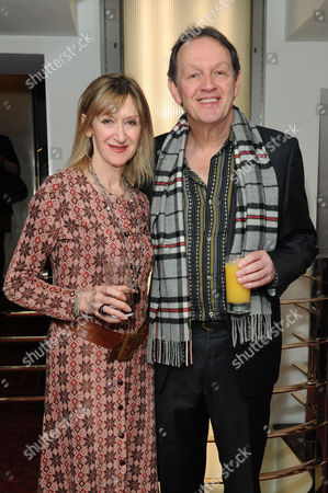 Stock Photo of Critics Circle Theatre Awards 2015 at the Prince Charles Theatre Julie Legrand and Kevin Whately