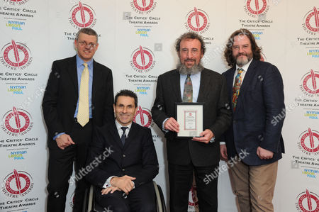 Critics Circle Theatre Awards 2015 at the Prince Charles Theatre Sponsors - Anthony Pins and Paul Taiano with Antony Sher (winner of Best Shakespearean Performance in Henry Iv Parts 1&2) with His Partner Gregory Doran