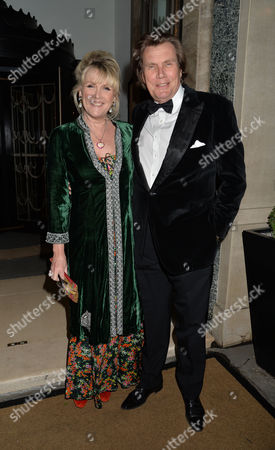 Dame Joan Collins Damehood Party at Claridges Ballroom Mayfair London Theo & Louise Fennell
